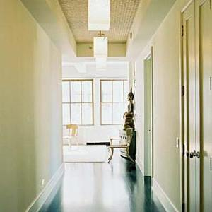White Webb Minimalist Entryway